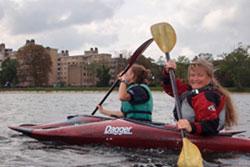 Kayaking at Castle Canoe Club