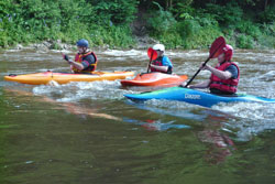 Kayaking with Castle Canoe Club
