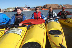 Sea kayaking with Castle Canoe Club